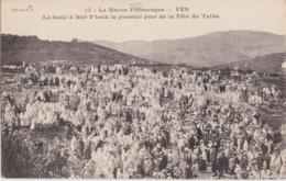 Cpa Maroc - FES - La Foule à Bab F'touh Le Premier Jour De La Fête Du Talba - Fez (Fès)