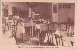 Cpa Algérie - SETIF - Vue De La Salle Restaurant De L'HOTEL De PARIS (carte Facture) - Sétif