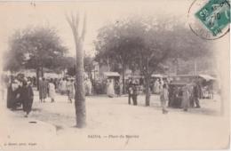 Cpa Algérie - SAIDA - Place Du Marché - Saïda