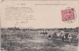 Cpa Algérie - ORAN - Revue Du 14 Juillet, Par Le Général O. Connor - Oran