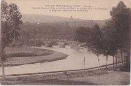Cpa CHATEAUNEUF Du FAOU - Canal De Nantes à Brest à Pont Pol St Thois - Le Chemin De Fer De Plouescat à Rosporden - Châteauneuf-du-Faou