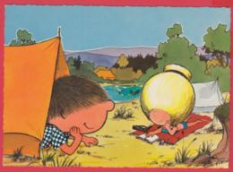 CPM-Illustrateurs- CHOUCHOU Et YÉYÉ En Camping- Dessin De FIX * 2 SCANS - Illustrateurs & Photographes