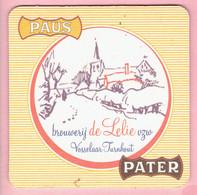 Bierviltje - Brouwerij DE LELIE - Vosselaar Turnhout Vzw - Paus Pater - Sous-bocks