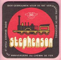 Bierviltje - Stephenson - 150° Verjaardag Spoorweg - 1835 1985 - Sous-bocks