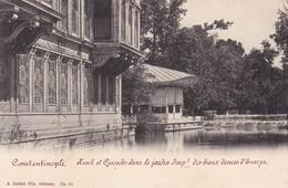 CONSTANTINOPLE , KIOSK ET CASCADES DANS LE JARDIN IMPERIAL  DES EAUX DOUCES D'EUROPE , ED. A. ZELLICH FILS , T25D - Türkei
