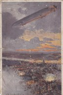 Zeppelin, Deutscher Luftfloten Verein, Zeppelin Uber Antwerpen (pk56306) - Dirigeables