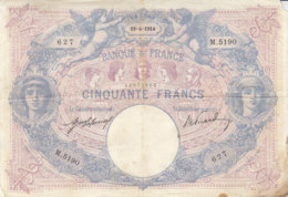 Billet 50 F Bleu Et Rose Du 18-4-1914 FAY 14.27 Alph. M.5190 - 1871-1952 Anciens Francs Circulés Au XXème