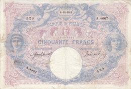Billet 50 F Bleu Et Rose Du 8-10-1913 FAY 14.26 Alph. A.4867 Bel état - 1871-1952 Antichi Franchi Circolanti Nel XX Secolo
