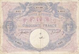 Billet 50 F Bleu Et Rose Du 13-1-1912 FAY 14.25 Alph. X.4211 - 1871-1952 Anciens Francs Circulés Au XXème