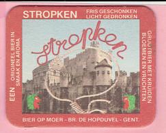 Bierviltje - Stropken - Bier Op Moer - Br. DE HOPDUVEL Gent - Sous-bocks