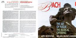 Superlimited Edition CD Milan Munclinger&Ars Rediviva. J.S.BACH. THE MUSICAL OFFERING. - Klassik