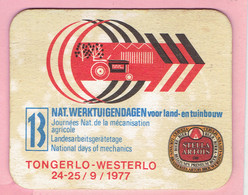 Bierviltje - Stella Artois - Nat.Werktuigdagen Voor Land En Tuinbouw - Tongerlo Westerlo 1977 - Sous-bocks