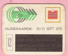 Bierviltje - Stella Artois - Nat.Werktuigdagen Voor Land En Tuinbouw - OUDENAARDE 1975 - Sous-bocks