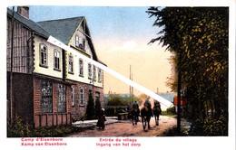 Camp D'ELSENBORN - Entrée Du Village - Carte Colorée - Bütgenbach