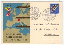 Suisse /Schweiz/Svizzera/Switzerland // Journée Du Timbre // 1950 // Carte Journée Du Timbre Et Cachet De 1951 Bern - Giornata Del Francobollo