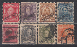 1904 Yvert Nº 191, 192, 193, 194, 195, 196, 199, 200, - Filipinas