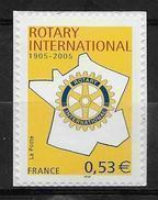 France 2005 Timbre Adhésif Neuf** N° 52 Rotary International Cote 3 Euros - Adhésifs (autocollants)