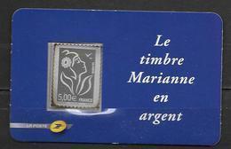 France 2006 Timbre Adhésif N° 85 Neuf Marianne De Lamouchie En Argent Sous Faciale - Adhésifs (autocollants)