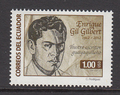 2012 Ecuador Gilbert Writer Literature Complete Set Of 1 MNH - Equateur