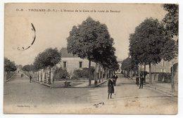 THOUARS--L'Avenue De La Gare Et La Route De Saumur (animée) - Thouars