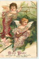 N°9996 - Carte Fantaisie - Fröhliche Pfingsten - Angelots Et Mandoline - Clapsaddle - Pentecôte