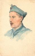 Soldat Militaire - Régiment - Cpa Illustrateur - Aquarelle - Fait Main ! - WW1 Guerre 14/18 - Régiments