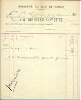 BRASSERIE DU QUAI DE NAMUR  / A.MERCIER-COYETTE  1891 (F311) - Belgique