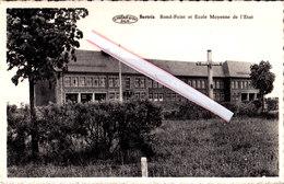 BERTRIX - Rond Point Et Ecole Moyenne De L'Etat - Bertrix