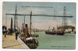 NANTES --Le Pont Transbordeur Pris En Aval  (animée,bateau à Vapeur )-- Carte Colorisée - Nantes