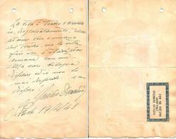 MOVIE CINEMA Italian Actor & Film Director GIULIO DONADIO Autograph & Letter Hand Signed Dedicacee - 1948 - Autógrafos