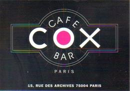 """Carte Postale """"Cart'Com"""" - Série Restaurant, Bar, Café - Café COX Bar - Paris - Restaurants"""