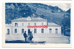 73 - Moutiers  - La Gare - ( Tramway Sur La Droite)  Cpa Bleue - Ed Levy  Ttb - Moutiers