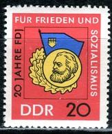 DDR - Mi 1167 - ** Postfrisch (D) - 20Pf              20 Jahre FDJ - [6] République Démocratique