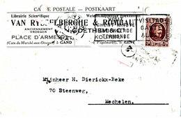 Librairie Scientifique VAN RYSSELBERGHE & ROMBAUT - Place D'Armes - Gent