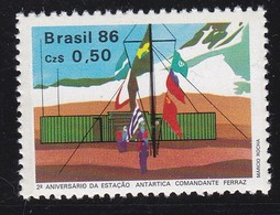 """Brésil N°1790 - 2° Anniversaire De La Station Antarctique """"Commandant Ferraz"""" - Brazil"""