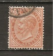 Italia-Italy Yvert Nº 15 (usado) (o) - 1861-78 Victor Emmanuel II