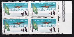 Brésil N°1829 - Bloc De 4 - Participation Des Forces Aériennes Au Programme Antarctique Brésilien - Brazil