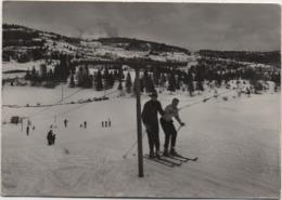 Lavarone (Trento): Skilift E Campo Scuola Di Sci Tobia. Viaggiata 1967 - Trento