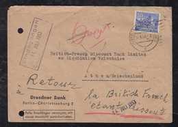 BERLIN 1953 Brief 1x 30Pf Bauten Nach Athen Griechenland Zurueck An Absender - Berlin (West)