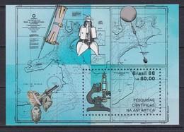 Brésil N°BF71 - Expédition Scientifique En Antarctique - Microscope - Maillet - Lunette Astronomique - Trépan - Ballon - Brazil