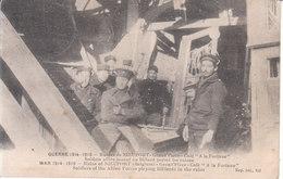 """Nieuport (1914-1915) - Grand Place: Café """"À La Fortune"""", Soldats Alliés Jouant Au Billard Parmi Les Ruines - Nieuwpoort"""