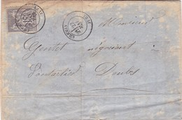 FABRIQUE CORDAGES-ENVELOPPE CIRCULEE AN 1978 CHEMIN JURA A PONTARLIER DOUBS. FULL CONTENT INSIDE - BLEUP - 1876-1878 Sage (Type I)
