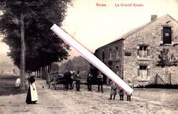 AISNE - La Grand Route - Carte Animée Et Circulée En 1908 - Durbuy