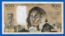 500 Fr  Du  6/11/1975 - 1962-1997 ''Francs''