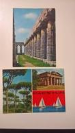 2 Cartoline PAESTUM  FG V  1970  Parco Archeologico - Salerno