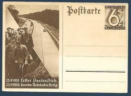 Allemagne - 1933 , Erfter Spatenftich - 1936 , 1000 Km Autobahn Fertig - Histoire