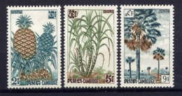 CAMBODGE - 125/127** - PRODUITS AGRICOLES - Cambodge
