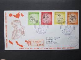 R BRIEF St. Nicolaas - Praha FDC Gelaufen 1961 Nederlandse Antillen  !///  D*36755 - Niederländische Antillen, Curaçao, Aruba