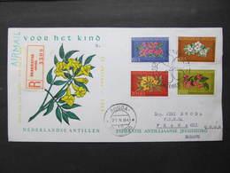 R BRIEF Aruba - Praha FDC Flowers Blumen 1964  !///  D*36756 - Niederländische Antillen, Curaçao, Aruba