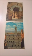 2 Cartoline VOLTERRA FG NV Colori Palazzo Priori Citta Etrusca Arco - Pisa